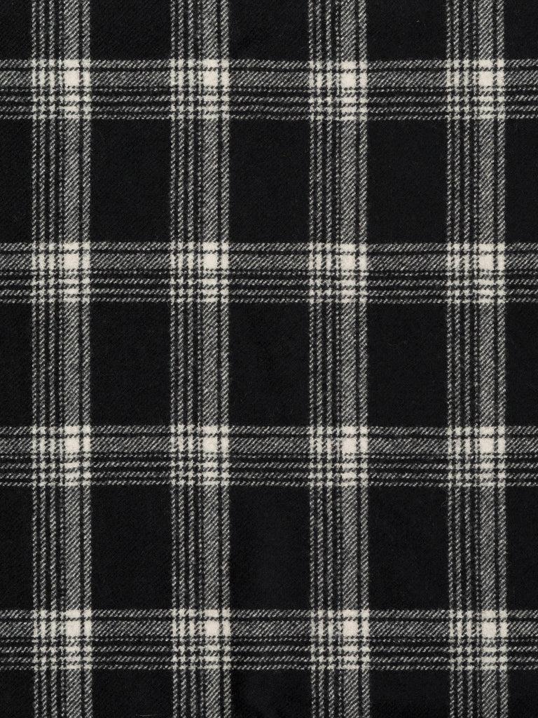 Fast Lane Check - Wool Windowpane Check - Fabworks Online