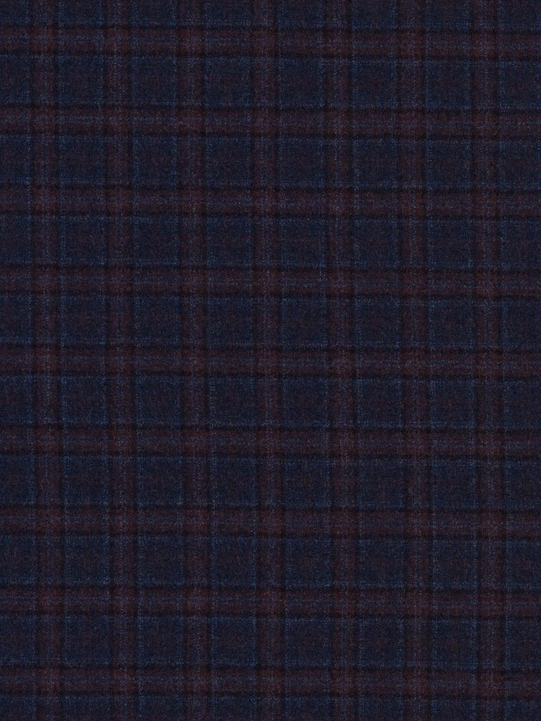 Blueberry & Sloe Check - Wool Flannel