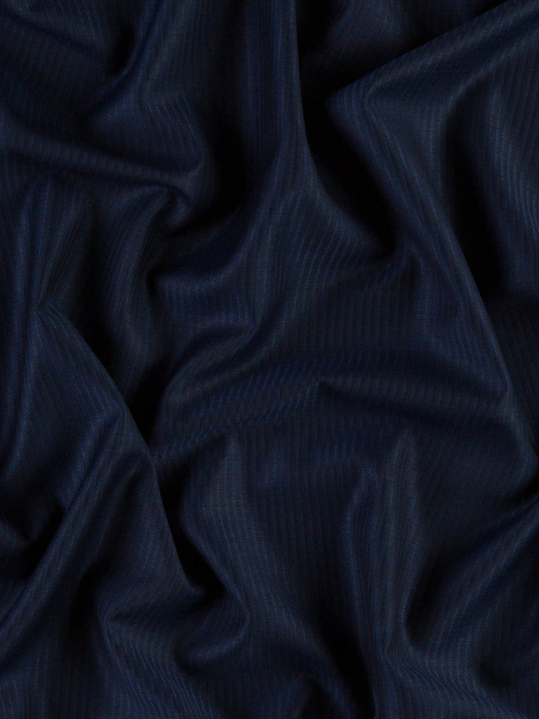 Royal & Navy Feather-stripe - Superfine Worsted