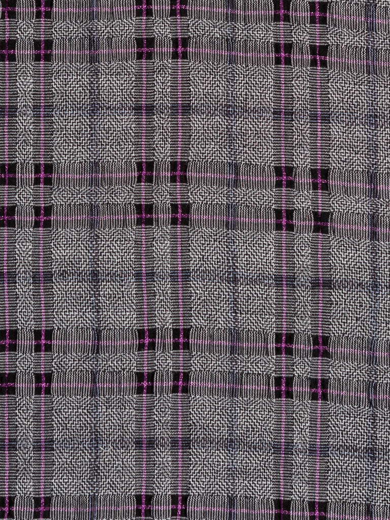 Inca Temple Check - Lambswool & Lurex - Fabworks Online