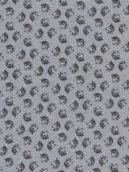 Magic Unicorns - Supersoft Grey Marl Interlock