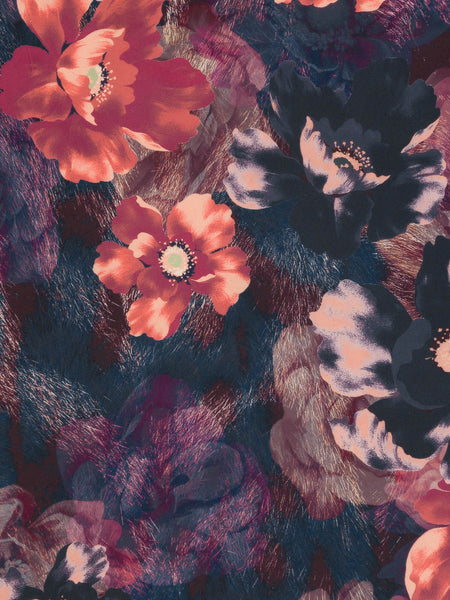 Dark and Dusky Autumn Blooms - Fabworks Online