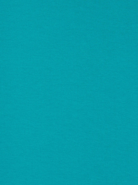 Lightweight fine cotton and viscose jersey fabric. No pattern – turquoise