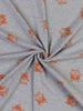 Orange Surf's Up - Supersoft Grey Marl Interlock