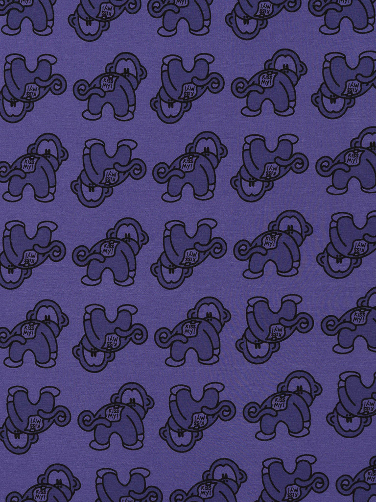 Cheeky Monkeys - Purple - Fabworks Online