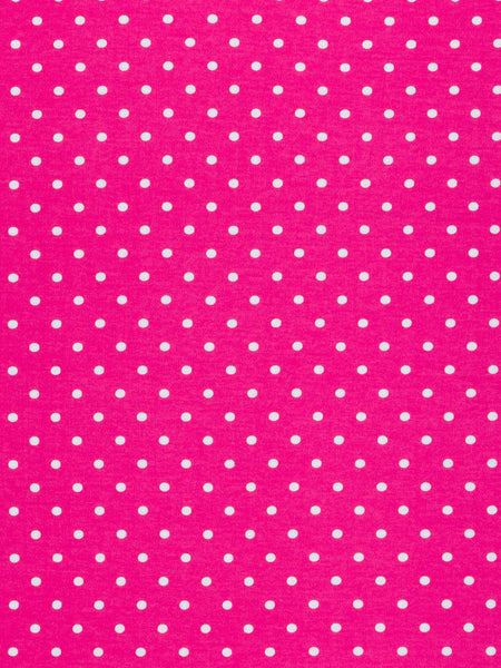 Pink & White Polka Dot - Cotton Interlock