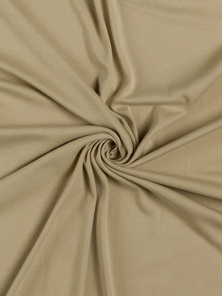 Cotton Interlock - Sandy Beige - Fabworks Online