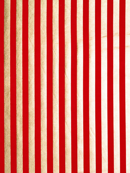 Even Stripe – Red and Gold - Fabworks Online