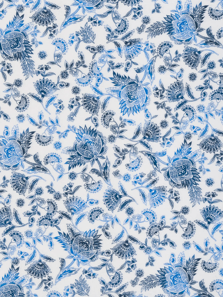 Burleigh Blue Jacobean Floral - Single Jersey - Fabworks Online