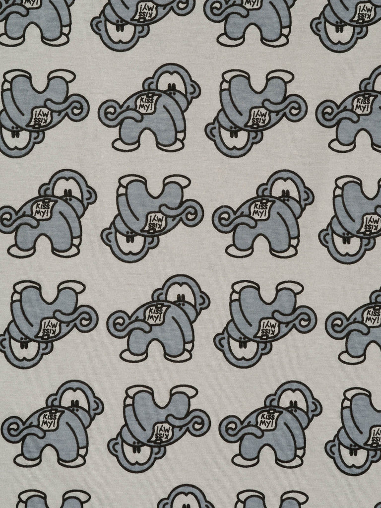 Cheeky Monkeys – Light Grey - Fabworks Online