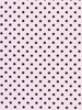 1cm Black Polka Dot - Rose Pink