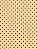 1cm Black Polka Dot - Lemon
