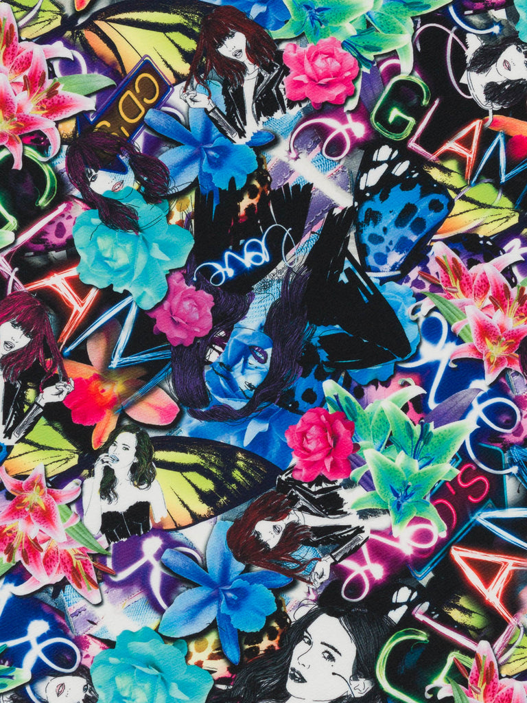 Neon Nightlife Abstract Floral