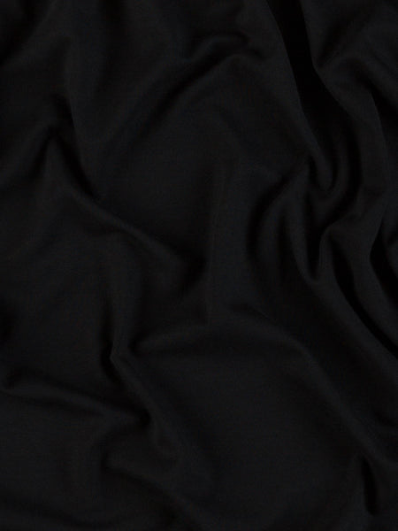 Top Quality Black Stretchy Ponte Roma KnittedJersey fabric//Material-1 full metre