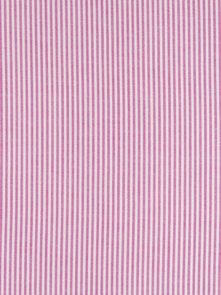 Medium weight 100% woven cotton fabric. Even stripe in pink and white