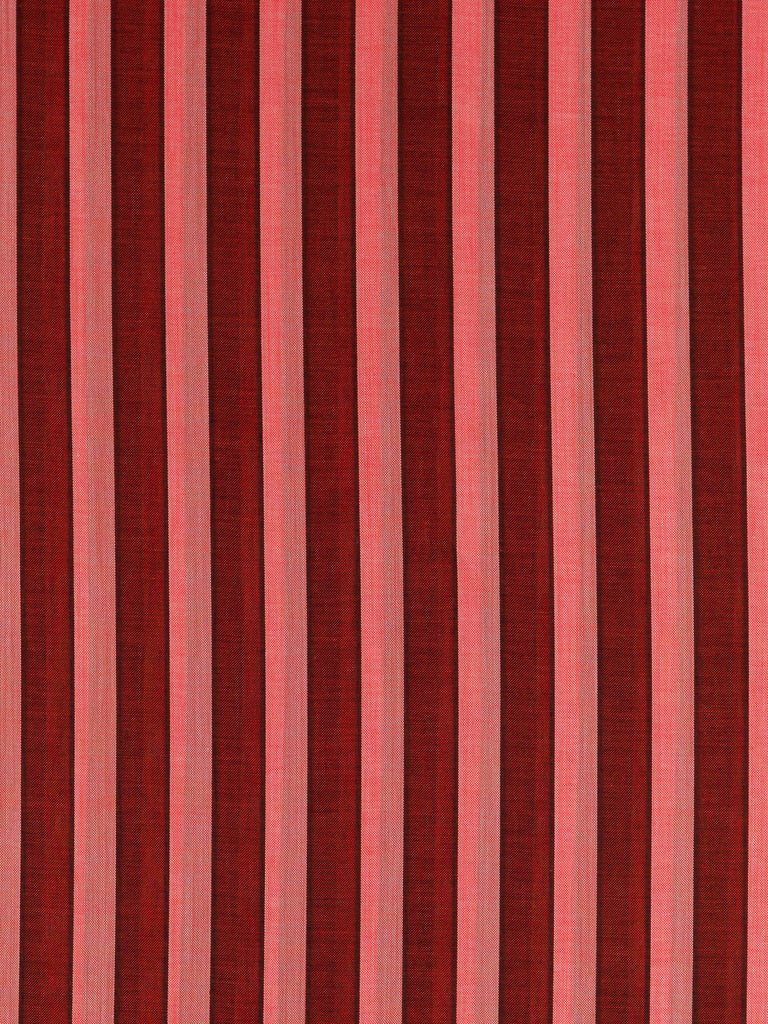 Silky Voile Shadow Stripe - Brick Red & Coral - Fabworks Online