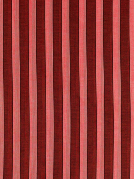Lighweight extremely fine 100% cotton voile stripe. Dark red and pink stripes