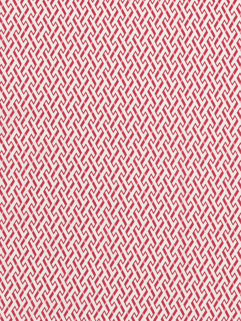 Red and Pink Interlocking Trellis - Fabworks Online