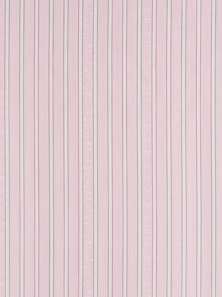 Light-medium weight high thread count shirting cotton. Jacquard woven pattern in baby pink