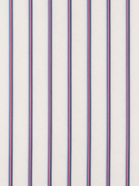 Silky Sateen Stripe - Baby Blue, Pink and Denim - Fabworks Online