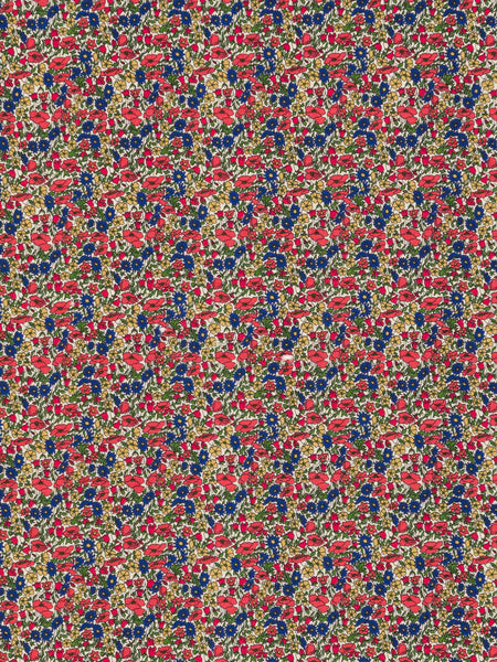 Liberty Tana Lawn - Poppy & Daisy - Red Blue