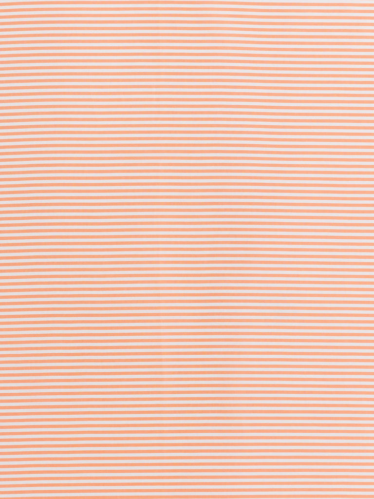 Super Silky Candy Stripes - Tangerine and White