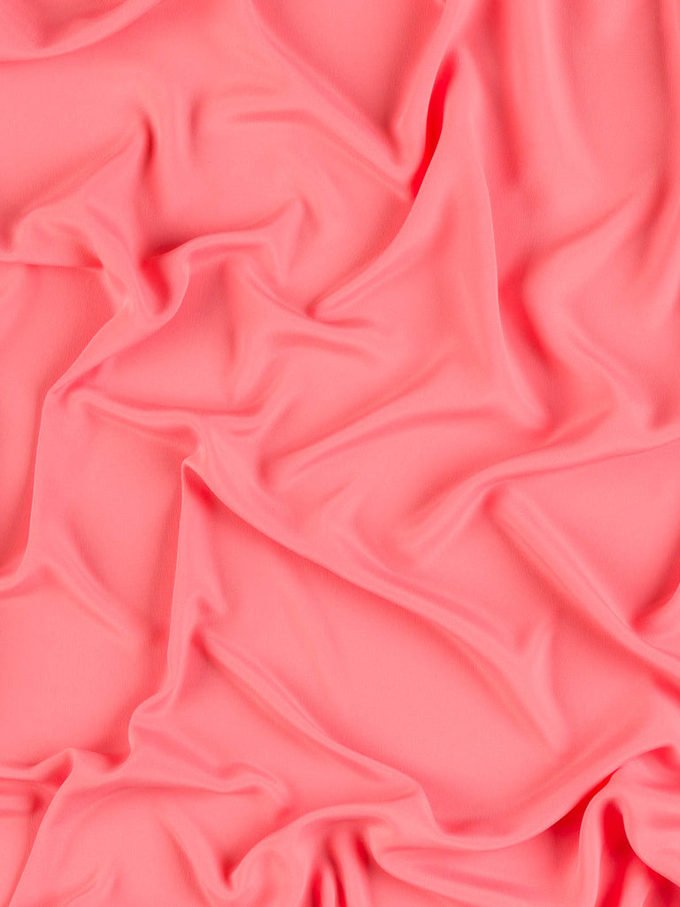 Oh So Soft Crepe de Chine - Living Coral