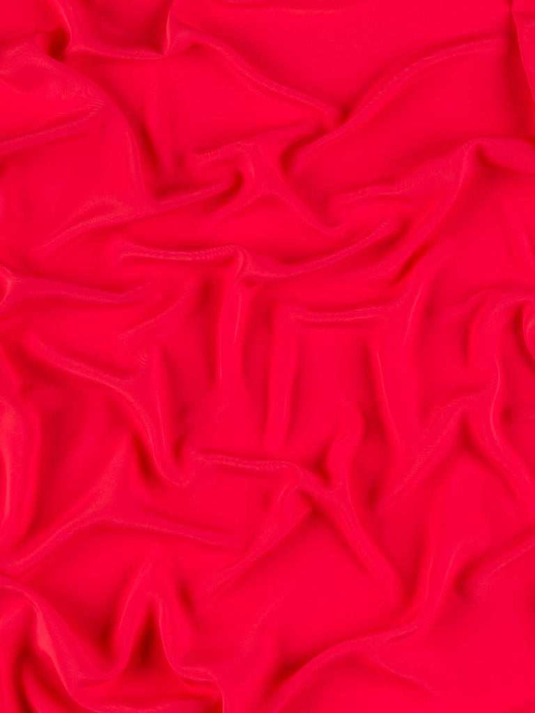 Oh So Soft Crepe de Chine - Red Coral