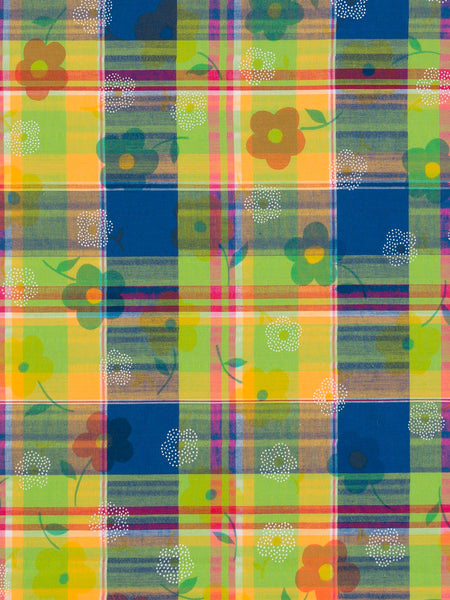 '60s Daisy Madras Check - Fabworks Online