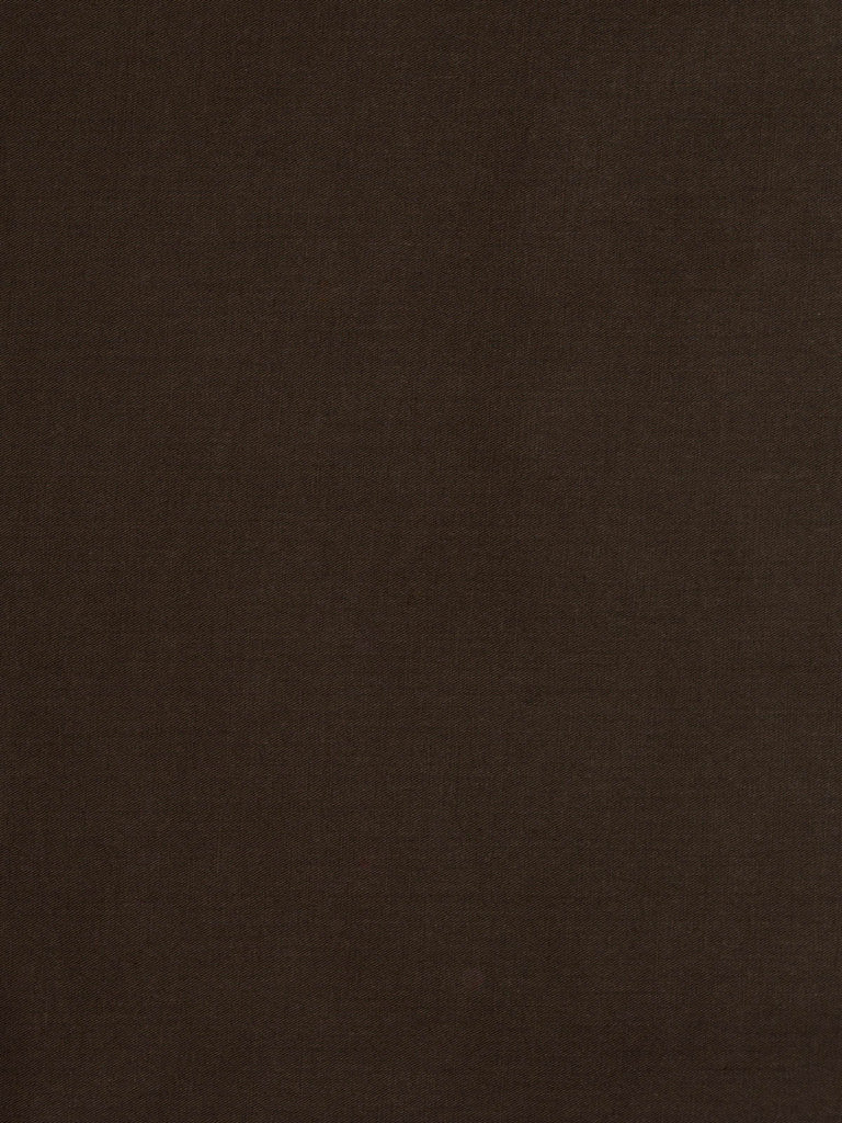Lightweight 100% lustrous fine cotton twill fabric (soft). Dark chocolate brown – no pattern