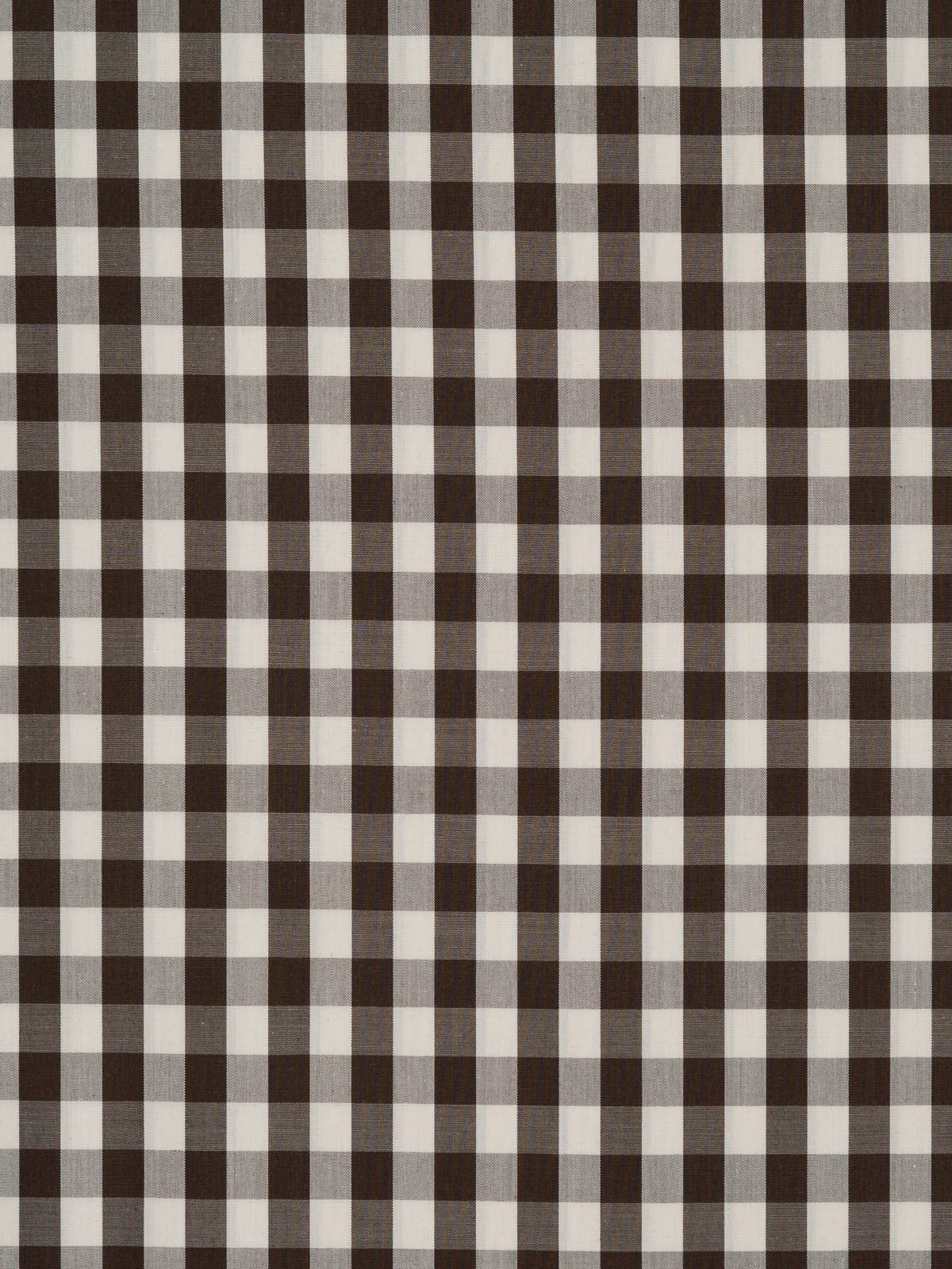 Gingham 100 Cotton Lawn Fabric Dark Brown And White Fabworks Online