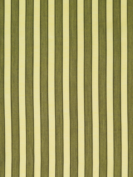 Lightweight fine cotton lawn. Yellow and moss green stripe