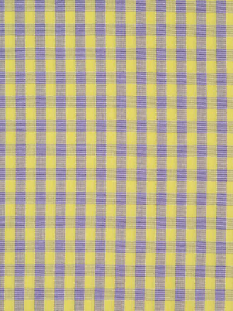 Lightweight fine cotton lawn shirting. Lilac and yellow Gingham check