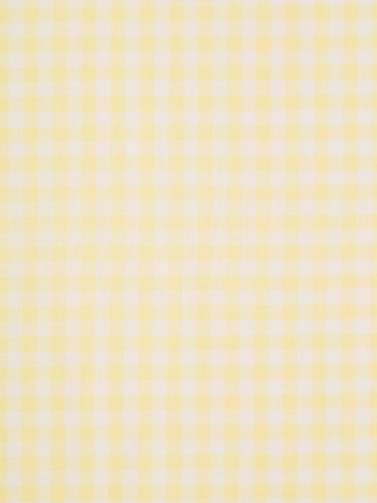 Gingham Check - Lemon and White - Fabworks Online
