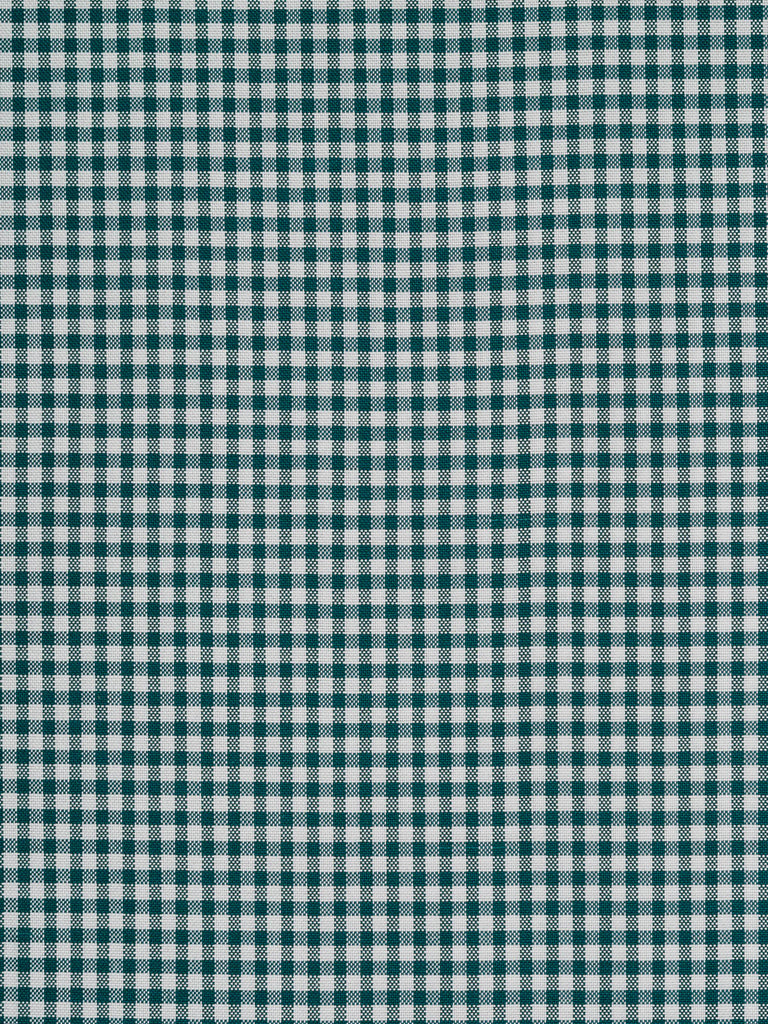 Dark Emerald & White Oxford Gingham - Fabworks Online