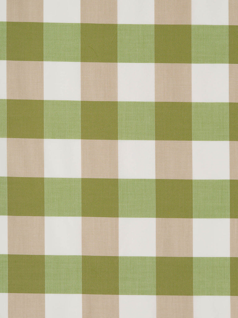 Large Gingham Check – Olive and Beige