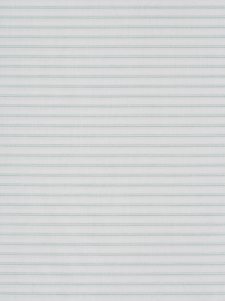 Lightweight 100% cotton – fine woven twill. Stripe in mint green on a white background