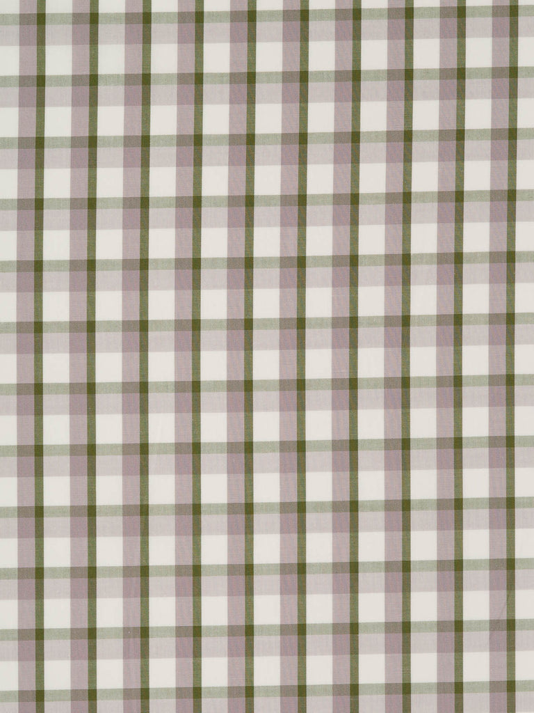 Shadow Gingham - Khaki, Faded Lilac and Natural White - Fabworks Online