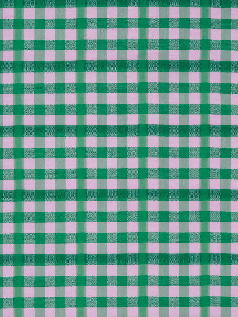 Gingham – Lilac and Emerald - Fabworks Online