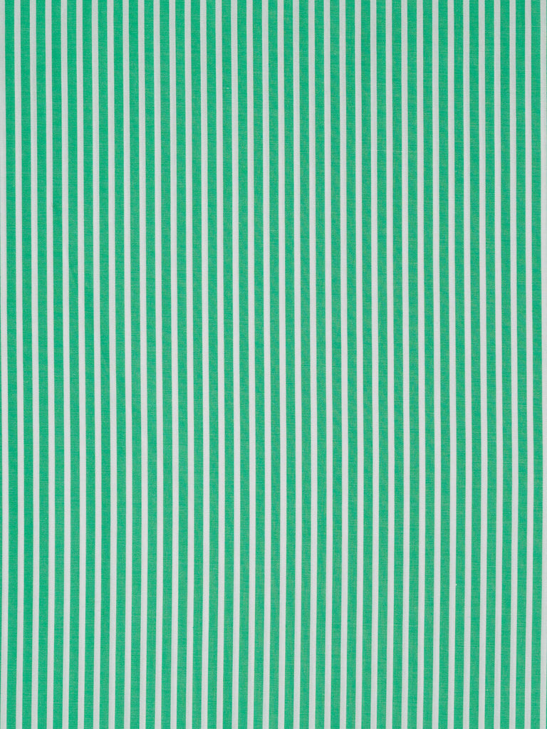Self Stripe - Emerald and White - Fabworks Online