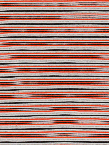 Skinny 'T' Stripe Interlock - '70s Orange - Fabworks Online