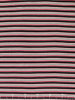 Skinny 'T' Stripe Interlock - Black, Cherry & Cream
