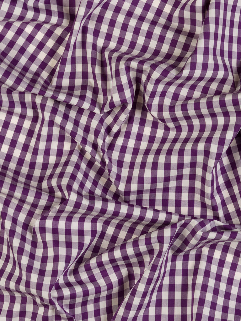 Rich Grape & Natural White Gingham Check