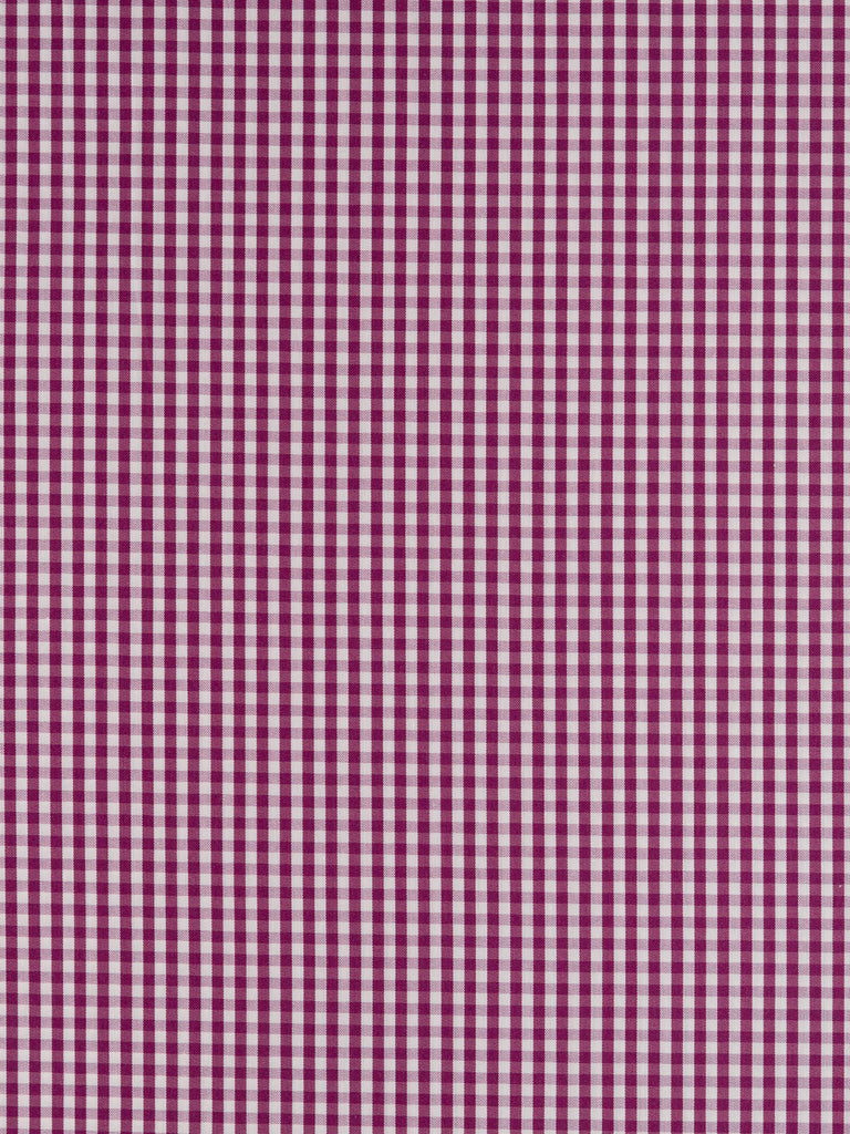 Autumn Plum Gingham - Stretch Shirting - Fabworks Online