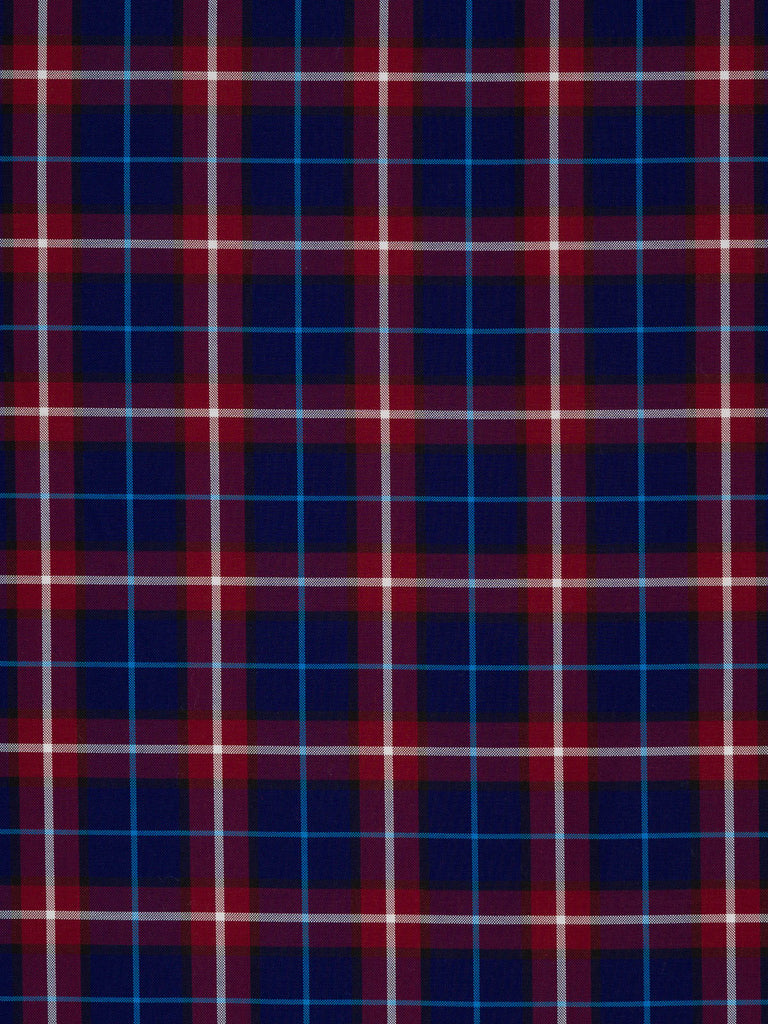 Heather and Bilberry Plaid - Oxford Weave - Fabworks Online