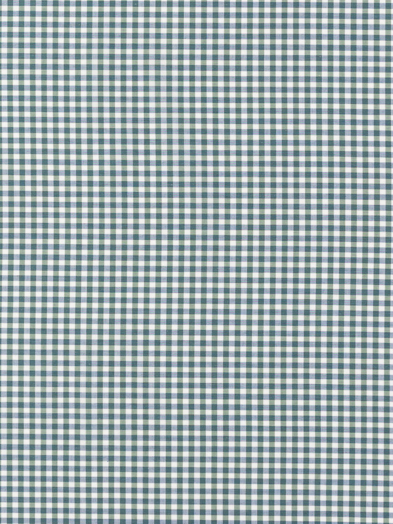 Airforce Blue and Grey Green Gingham Check - Fabworks Online