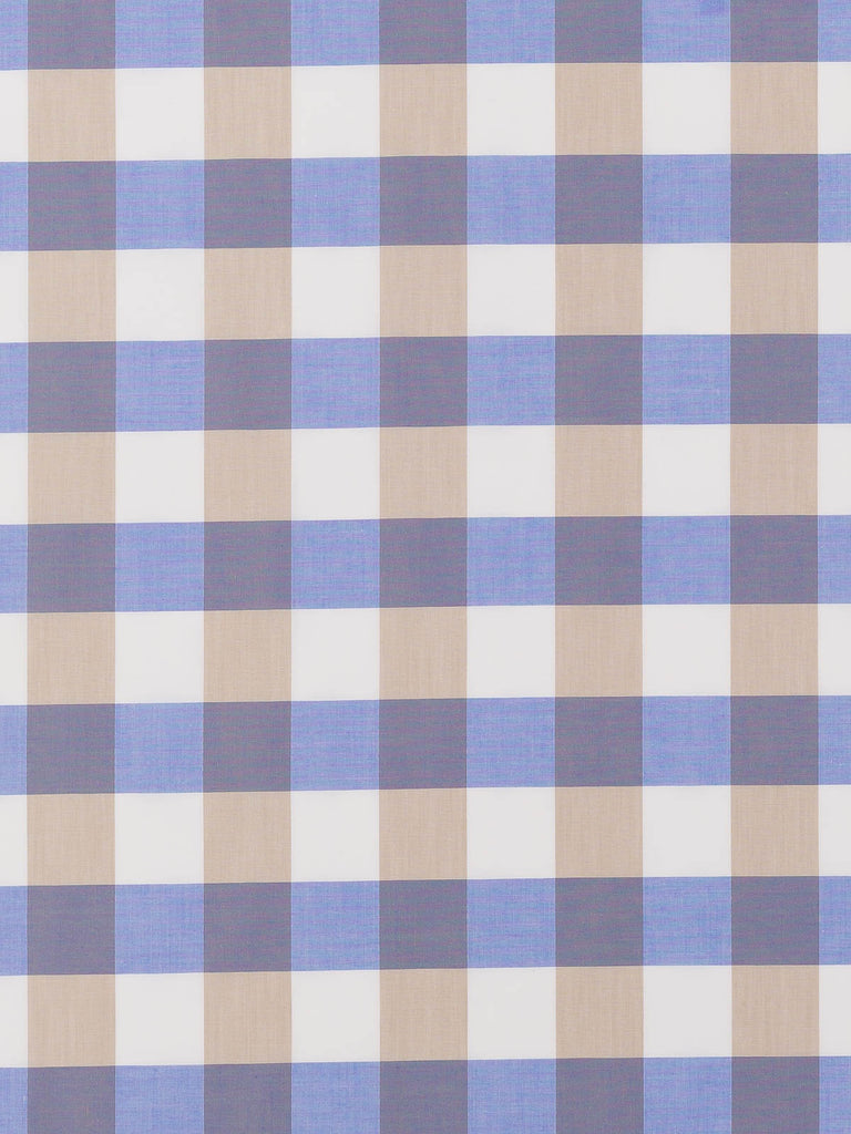 Large Gingham Check - Hydrangea & Beige