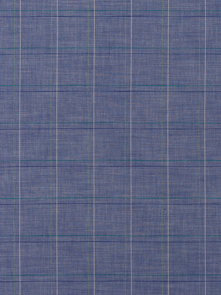Blue Sky View - Windowpane Check Chambray