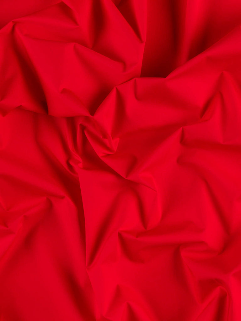 Red Alert! Italian Cotton Poplin