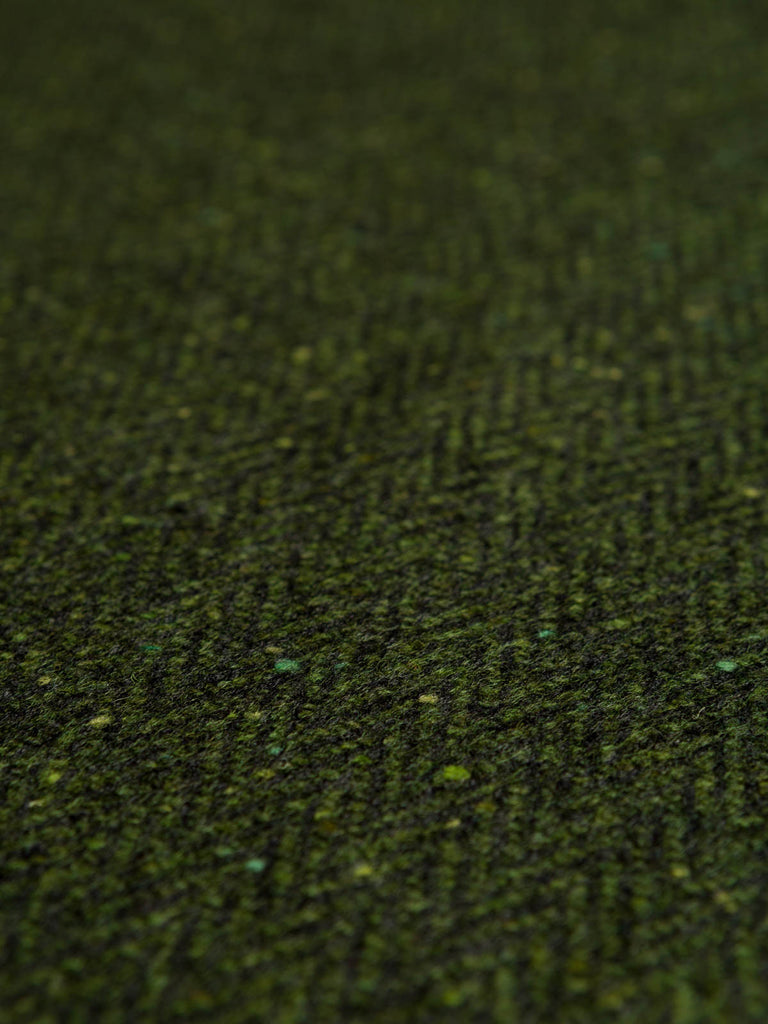 Rich Mossy Green - Donegal Tweed Herringbone